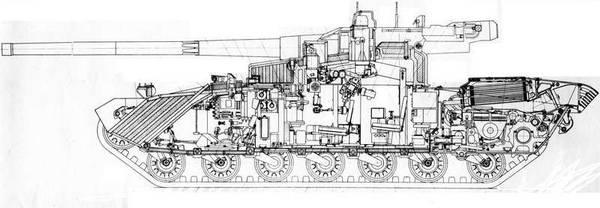 «Объект 490А» - опытный основной боевой танк (НИР «Бунтарь») B4x1Y