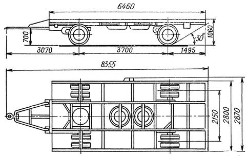 МАЗ-5224В - прицеп-шасси