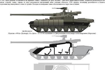 «Объект 490А» - опытный основной боевой танк (НИР «Бунтарь») RYmPT